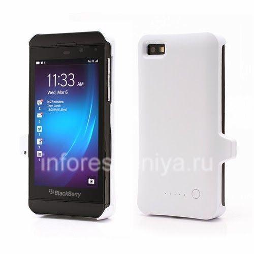 Чехол-аккумулятор для BlackBerry Z10, Белый Матовый: Чехол-аккумулятор для BlackBerry Z10 и защищает и дает энергию. Вес чехла всего 68 грамм.