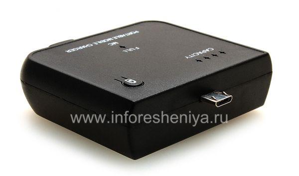 Портативное зарядное устройство для BlackBerry, Черный: Это портативное зарядное устройство имеет выход MicroUSB, оно совместимо с BlackBerry Z10.