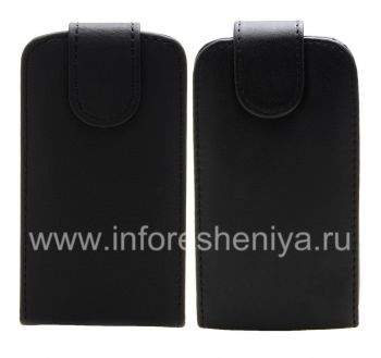 Leather case cover with vertical opening for the BlackBerry 9360/9370 Curve