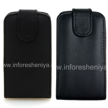 Leather Case with vertical opening cover for BlackBerry Curve 9380
