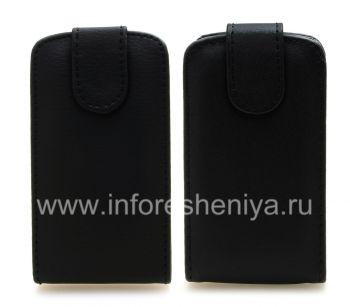 Housse en cuir avec couvercle à ouverture verticale pour BlackBerry 9790 Bold