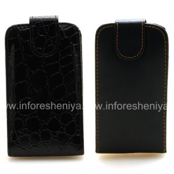 Caso de cuero con tapa de apertura vertical para BlackBerry 9800/9810 Torch