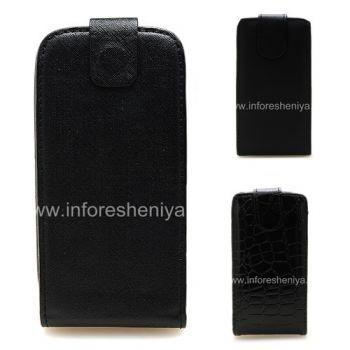 BlackBerry 9850 / 9860 Torch জন্য উল্লম্ব খোলার সঙ্গে চামড়া ক্ষেত্রে কভার