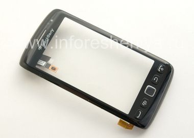 Buy Layar sentuh (Touchscreen) dalam perakitan dengan panel depan untuk BlackBerry 9850 / 9860 Torch