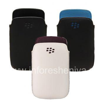 原装皮套口袋真皮包包袋为BlackBerry 9360 / 9370曲线