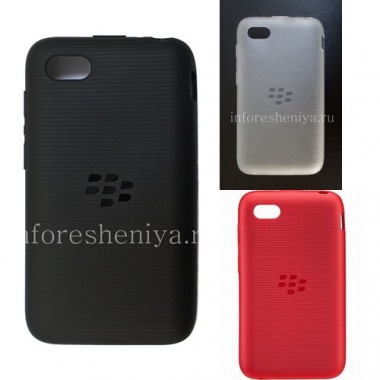 Купить Оригинальный силиконовый чехол уплотненный Soft Shell Case для BlackBerry Q5