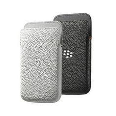 Купить Оригинальный кожаный чехол-карман с металлическим логотипом Leather Pocket для BlackBerry Classic