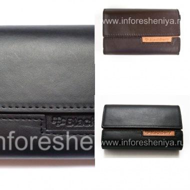 Купить Оригинальный кожаный чехол-сумка Leather Folio для BlackBerry