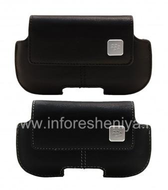 Купить Оригинальный горизонтальный кожаный чехол с клипсой и металлической биркой Horizontal Holster для BlackBerry