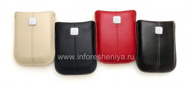 Купить Оригинальный кожаный чехол-карман с металлической биркой Leather Pocket для BlackBerry