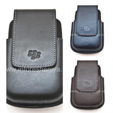 Купить Оригинальный кожаный чехол c клипсой округлый Leather Swivel Holster для BlackBerry 9000 Bold