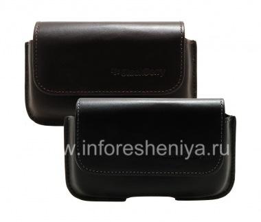 Купить Оригинальный кожаный чехол-сумка с зажимом Horisontal Holster для BlackBerry 9000 Bold