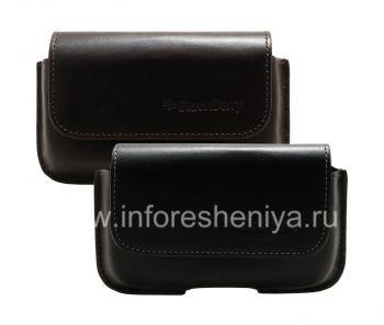 Оригинальный кожаный чехол-сумка с зажимом Horisontal Holster для BlackBerry 9000 Bold