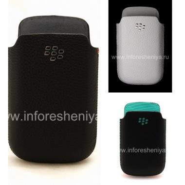 Купить Оригинальный кожаный чехол-карман с металлическим логотипом Leather Pocket для BlackBerry 9700/9780 Bold