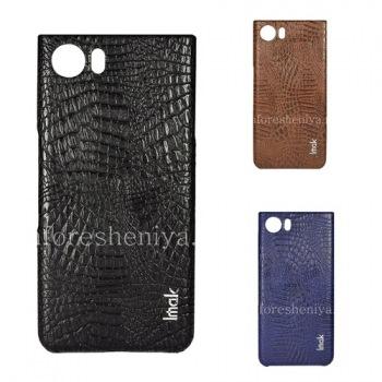 Фирменный пластиковый чехол-крышка IMAK Crocodile для BlackBerry KEYone