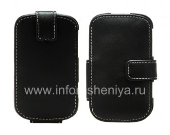 Signature Leather Case handmade Monaco Flip / Book Type Leather Case for BlackBerry 9900/9930 Bold Touch