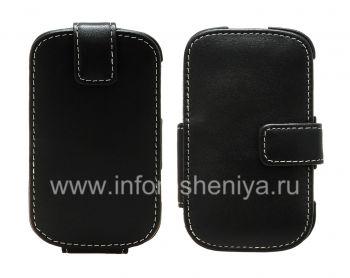 Signature Leather Case handgemachte Monaco Flip / Book Type Ledertasche für Blackberry 9900/9930 Bold Touch-