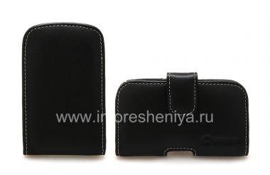 Купить Фирменный кожаный чехол-карман ручной работы с зажимом Monaco Vertical/Horisontal Pouch Type Leather Case для BlackBerry 9900/9930 Bold Touch