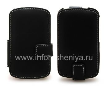 Фирменный кожаный чехол ручной работы Monaco Flip/Book Type Leather Case для BlackBerry Q10