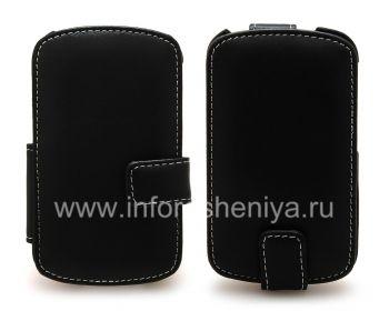 Signature Leather Case handmade Monaco Flip / Book Type Leather Case for the BlackBerry Q10