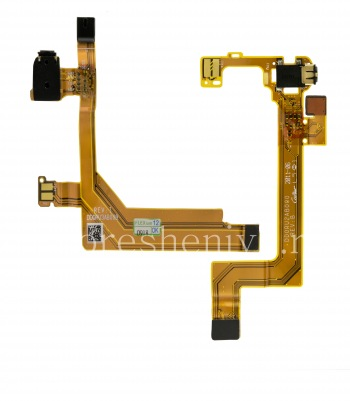 Audio chip for the right speaker with the audio connector and the microphone for BlackBerry PlayBook