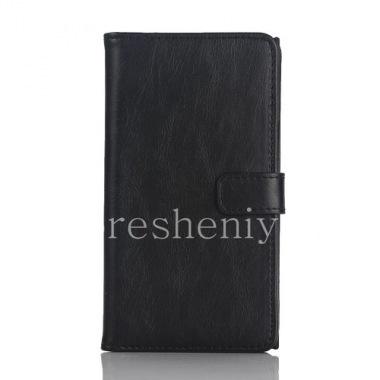 """Купить Кожаный чехол горизонтально открывающийся """"Классический"""" для BlackBerry Priv"""