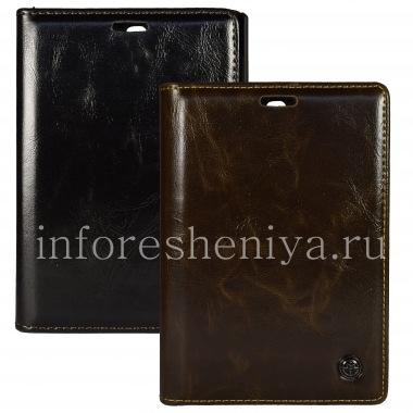 Купить Фирменный кожаный чехол CaseMe Premium-класса с горизонтально открывающейся крышкой для BlackBerry Passport Silver Edition
