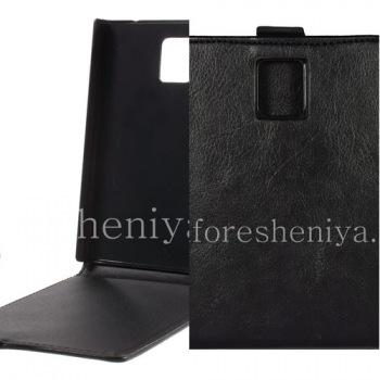Кожаный чехол с вертикально открывающейся крышкой для BlackBerry Passport