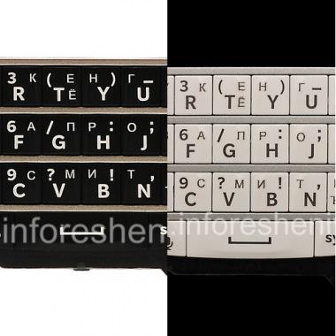 Купить Русская клавиатура для BlackBerry Q10 (гравировка)