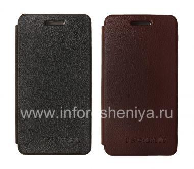 Купить Фирменный кожаный чехол горизонтально открывающийся DiscoveryBuy для BlackBerry Z10