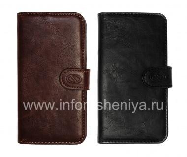 Купить Фирменный кожаный чехол-кошелек Naztech Klass Wallet Case для BlackBerry Z10