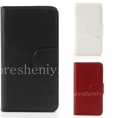 """Купить Кожаный чехол горизонтально открывающийся """"Классический"""" для BlackBerry Z30"""