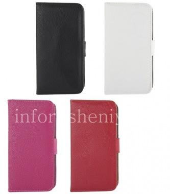 Купить Кожаный чехол горизонтально открывающийся с функцией подставки для BlackBerry Z30