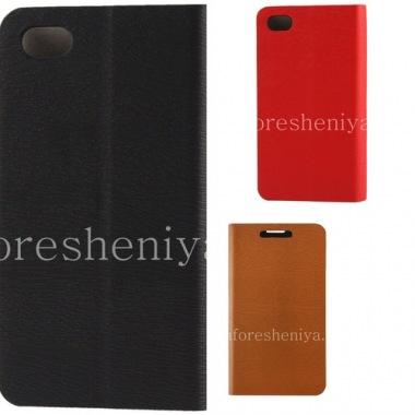 """Купить Кожаный чехол горизонтально открывающийся """"Wooden"""" для BlackBerry Z30"""