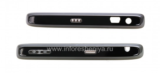 Боковые панели с кнопками для BlackBerry 8100 Pearl, Темный металлик