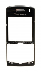 panel frontal carcasa original para BlackBerry 8100 / 8110/8120/8130 Pearl, negro