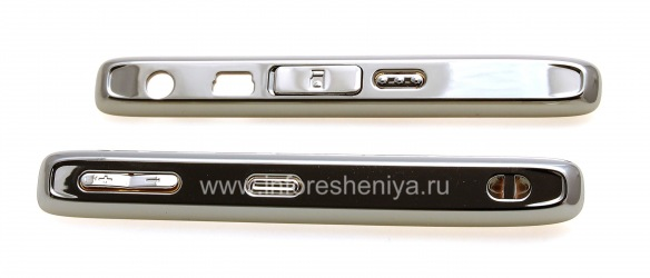 Боковые панели с кнопками для BlackBerry 8110/8120/8130 Pearl, Металлик