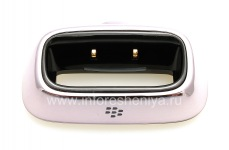 "Original-Tischladestation Charging Pod ""Glass"" für Blackberry 8100/8110/8120 Pearl, Metallic"