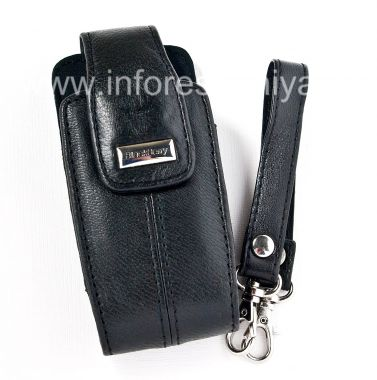 Buy The original leather case with strap and a metal tag Leather Tote for BlackBerry 8100/8110/8120 Pearl