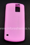 Photo 1 — Housse en silicone d'origine pour BlackBerry 8100 Pearl, Rose (Magenta)
