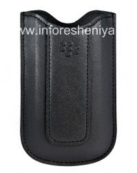 Оригинальный кожаный чехол-карман Leather Pocket для BlackBerry 8100/8110/8120 Pearl, Черный (Black)