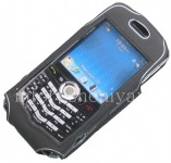 Funda de silicona con clip Corporativa Stingray Caso Cellet para BlackBerry 8100 Pearl, Negro