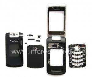 Оригинальный корпус для BlackBerry 8220 Pearl Flip, Черный