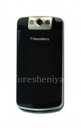 Внешний и внутренний экраны LCD в сборке со средней частью корпуса для BlackBerry 8220/8230 Pearl Flip, Черный