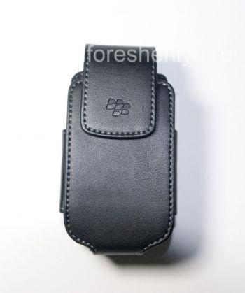 原装皮套带旋转带夹的BlackBerry 8220 Pearl翻转剪辑合成革皮套