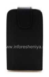 Кожаный чехол с вертикально открывающейся крышкой для BlackBerry 9320/9220 Curve, Черный с крупной текстурой
