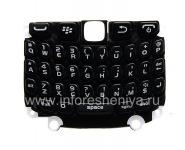 ब्लैकबेरी कर्व 9320/9220 के लिए एक सब्सट्रेट के साथ मूल अंग्रेजी कीबोर्ड, काला