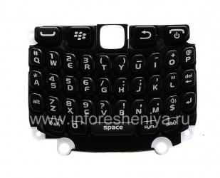 Die ursprüngliche englische Tastatur mit einem Substrat für das Blackberry Curve 9320/9220, Schwarz