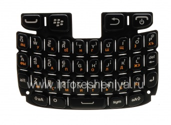 Русская клавиатура для BlackBerry 9320/9220 Curve, Черный (Black)