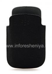 Оригинальный тканевый чехол-карман Microfibre Pocket Pouch для BlackBerry 9320/9220 Curve, Черный/Серый (Black/Grey)